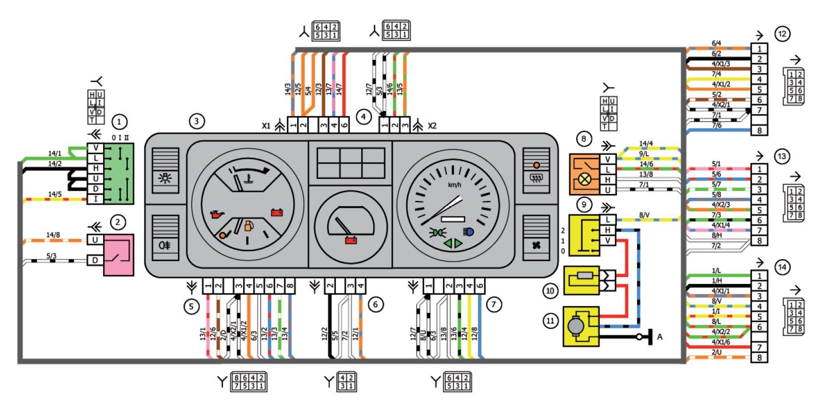 Электронная схема зарядно-пускового устройства