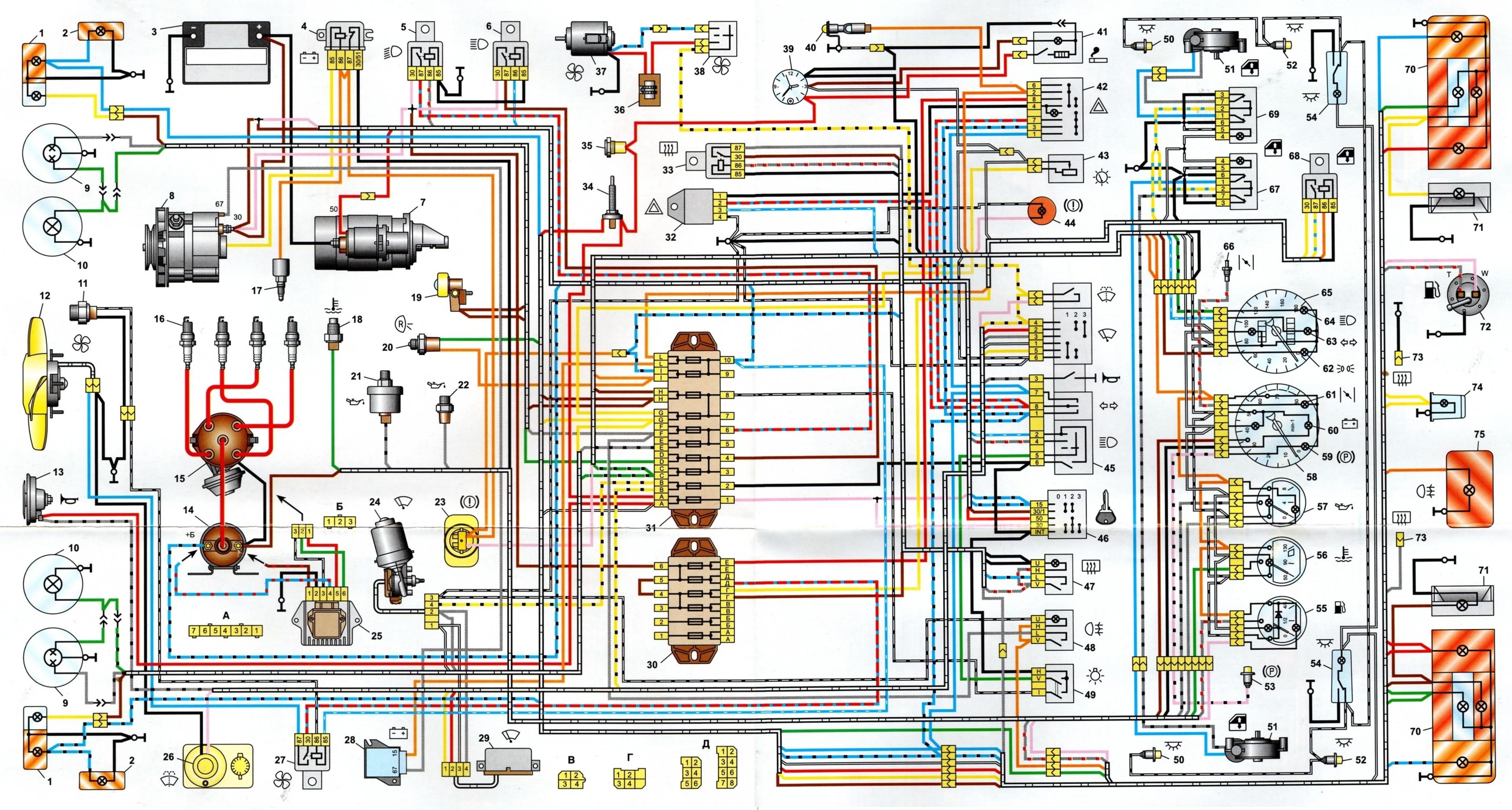 Принципиальная электрическая схема ваз 2106 фото 494